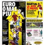 Prime pagine La Gazzetta dello Sport